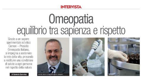 """INTERVISTA """"OMEOPATIA EQUILIBRIO TRA SAPIENZA E RISPETTO"""""""